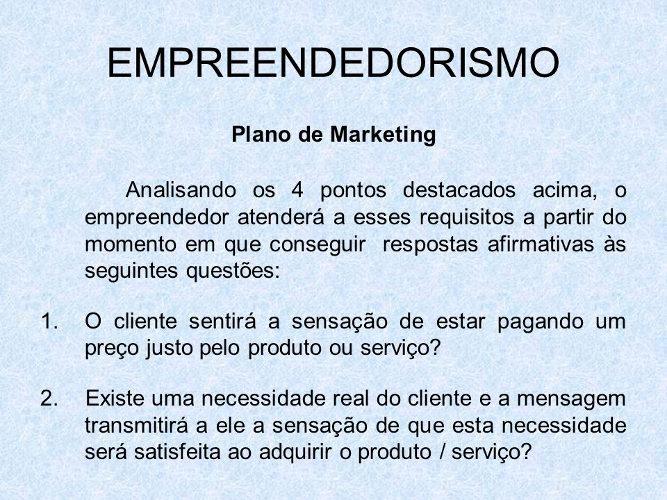 EMPREENDEDORISMO Plano de Marketing.