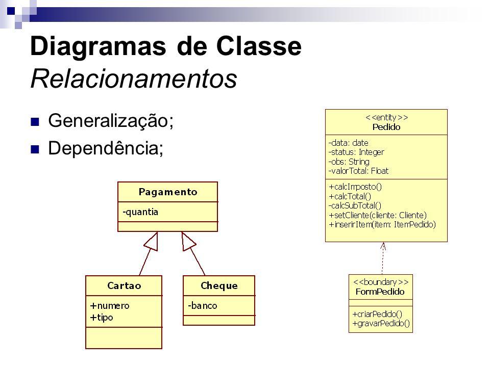 Diagramas de Classe Relacionamentos