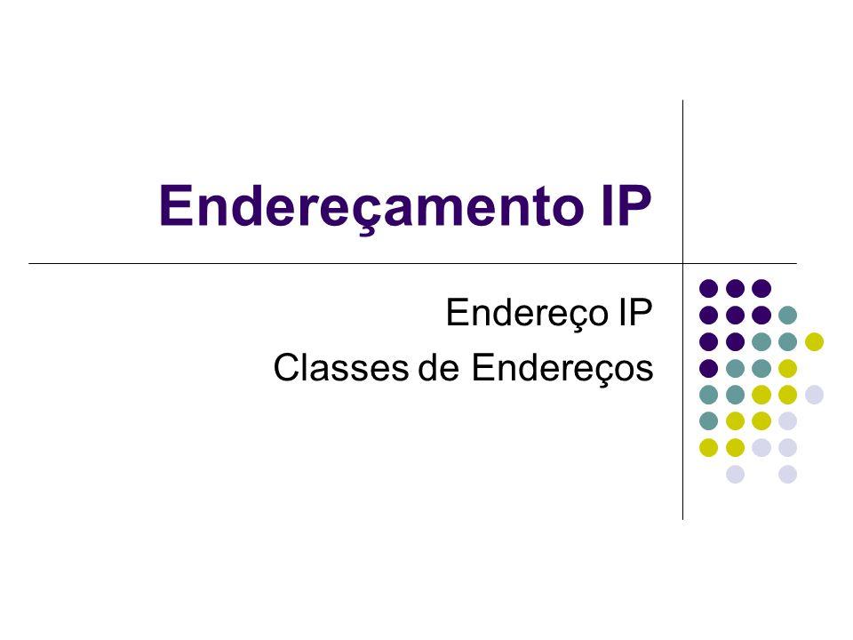 Endereço IP Classes de Endereços