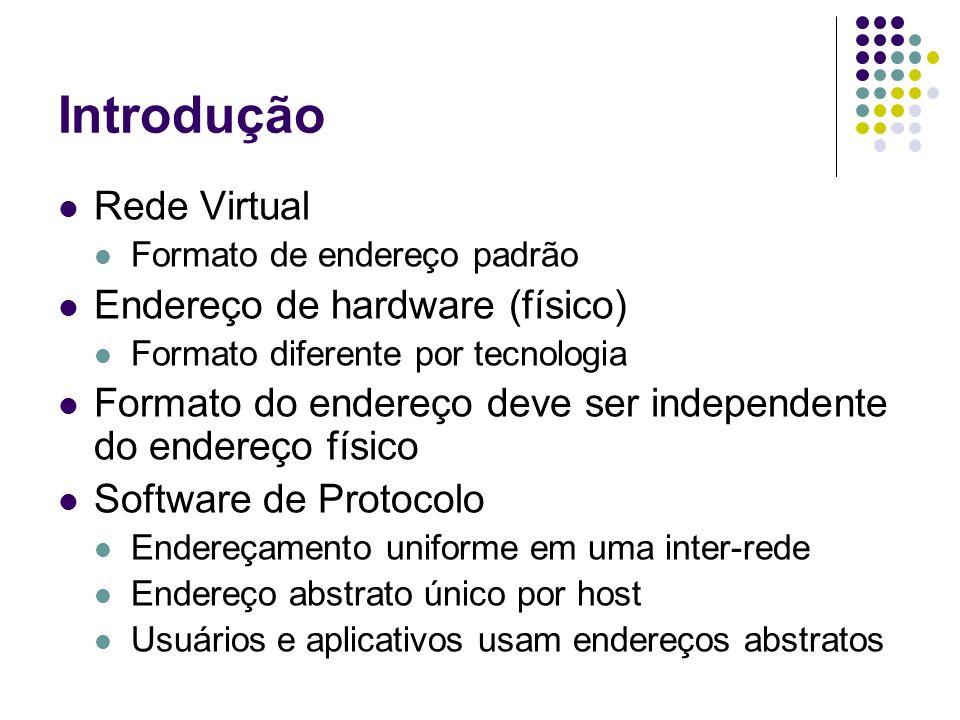 Introdução Rede Virtual Endereço de hardware (físico)