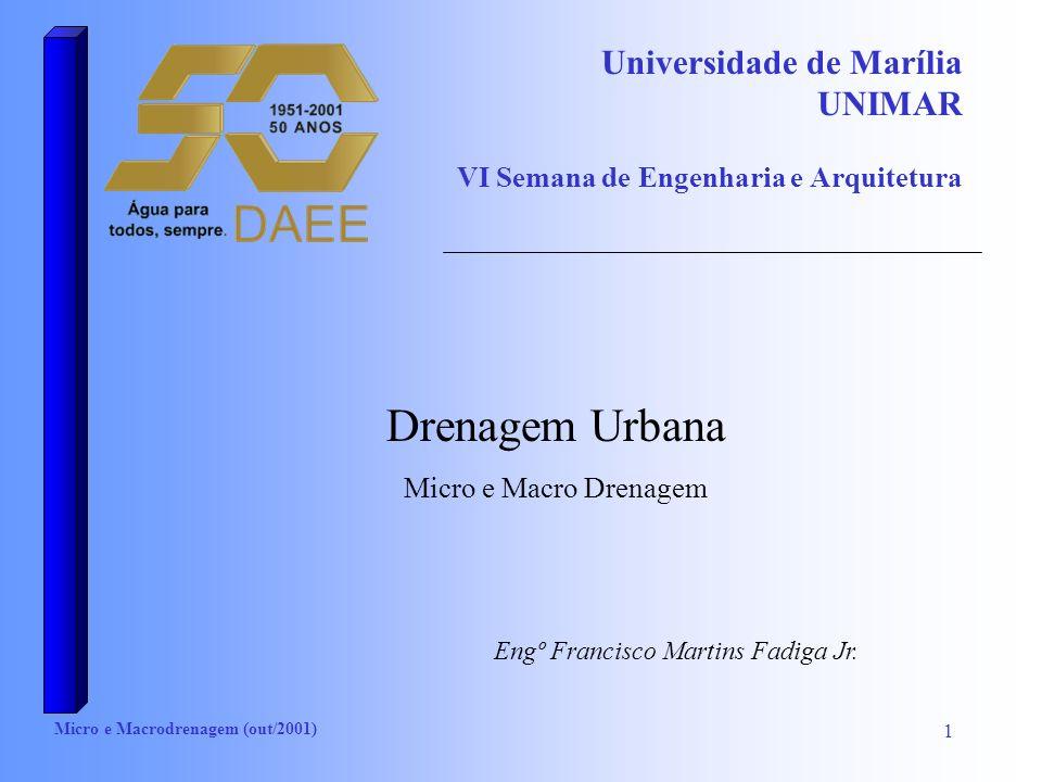 Universidade de Marília UNIMAR VI Semana de Engenharia e Arquitetura
