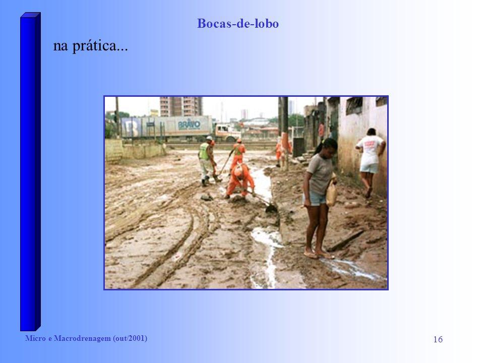 Bocas-de-lobo na prática... Micro e Macrodrenagem (out/2001)