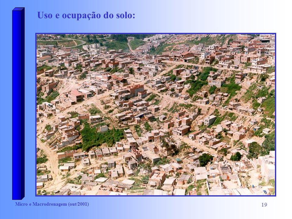 Uso e ocupação do solo: Micro e Macrodrenagem (out/2001)