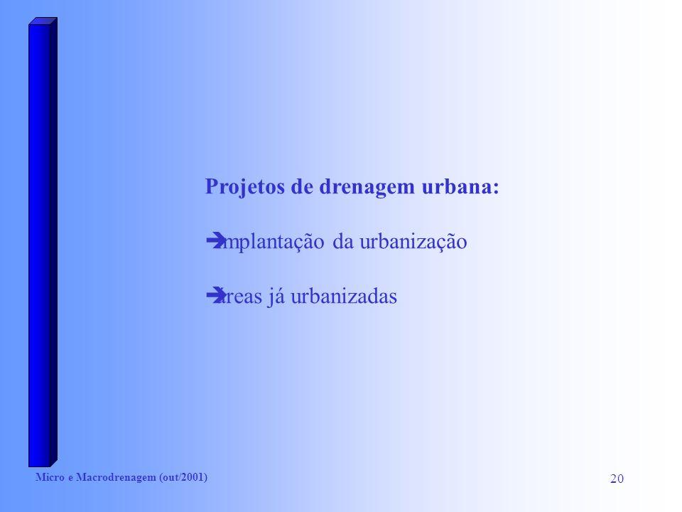 Projetos de drenagem urbana: implantação da urbanização