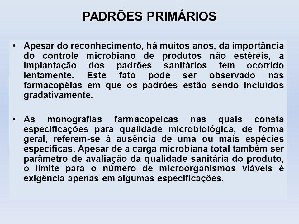 PADRÕES PRIMÁRIOS
