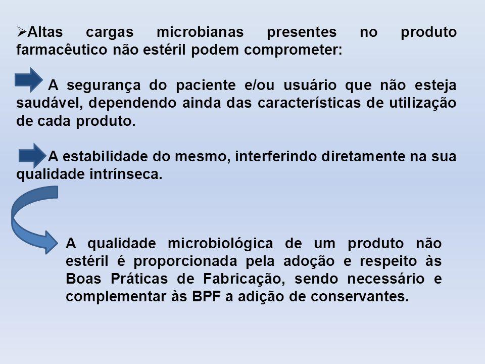 Altas cargas microbianas presentes no produto farmacêutico não estéril podem comprometer: