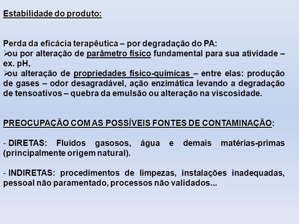 Estabilidade do produto: