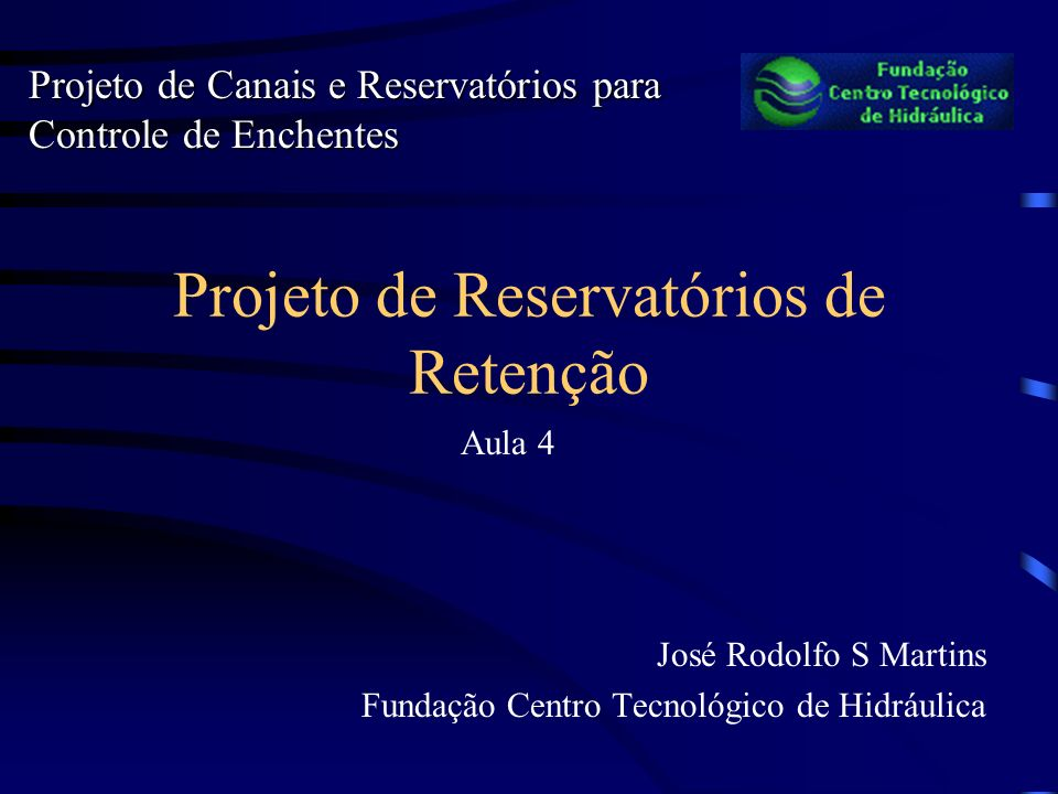 Projeto de Reservatórios de Retenção