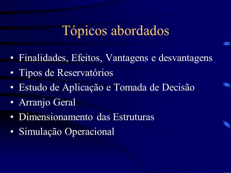 Tópicos abordados Finalidades, Efeitos, Vantagens e desvantagens