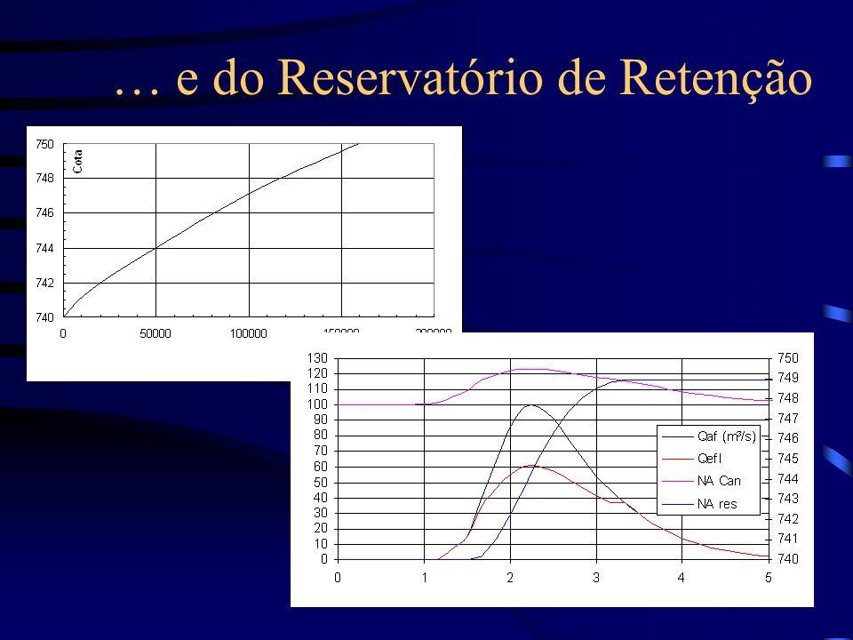 … e do Reservatório de Retenção