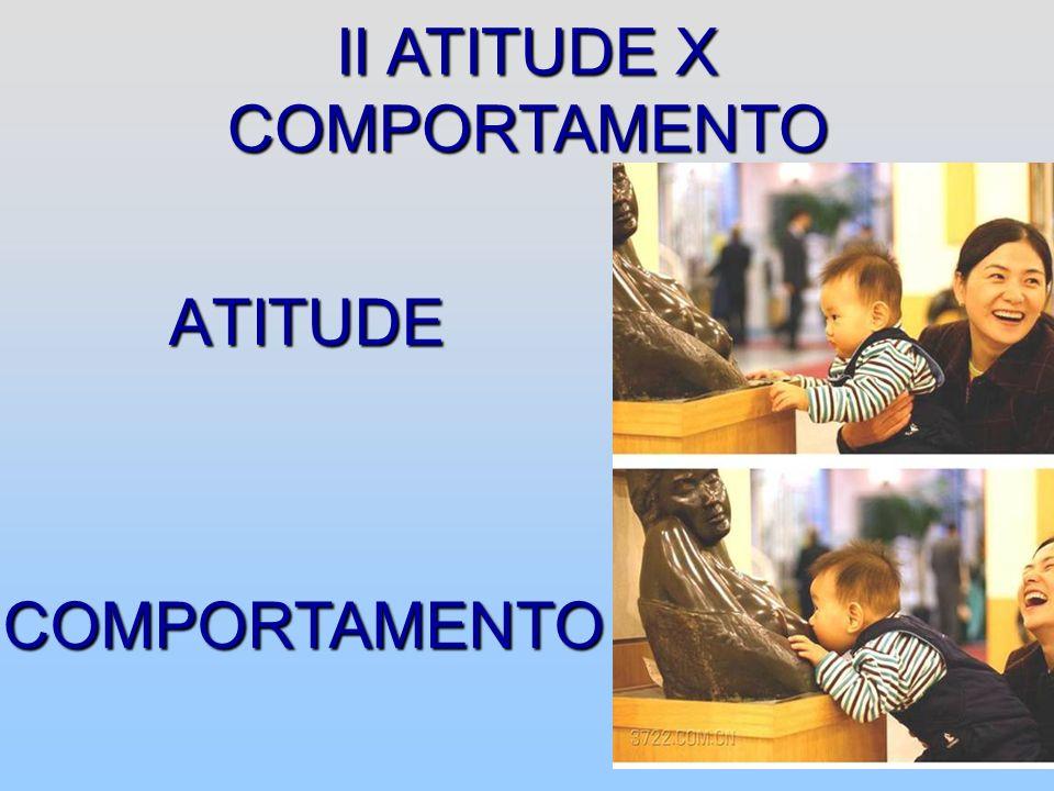 II ATITUDE X COMPORTAMENTO