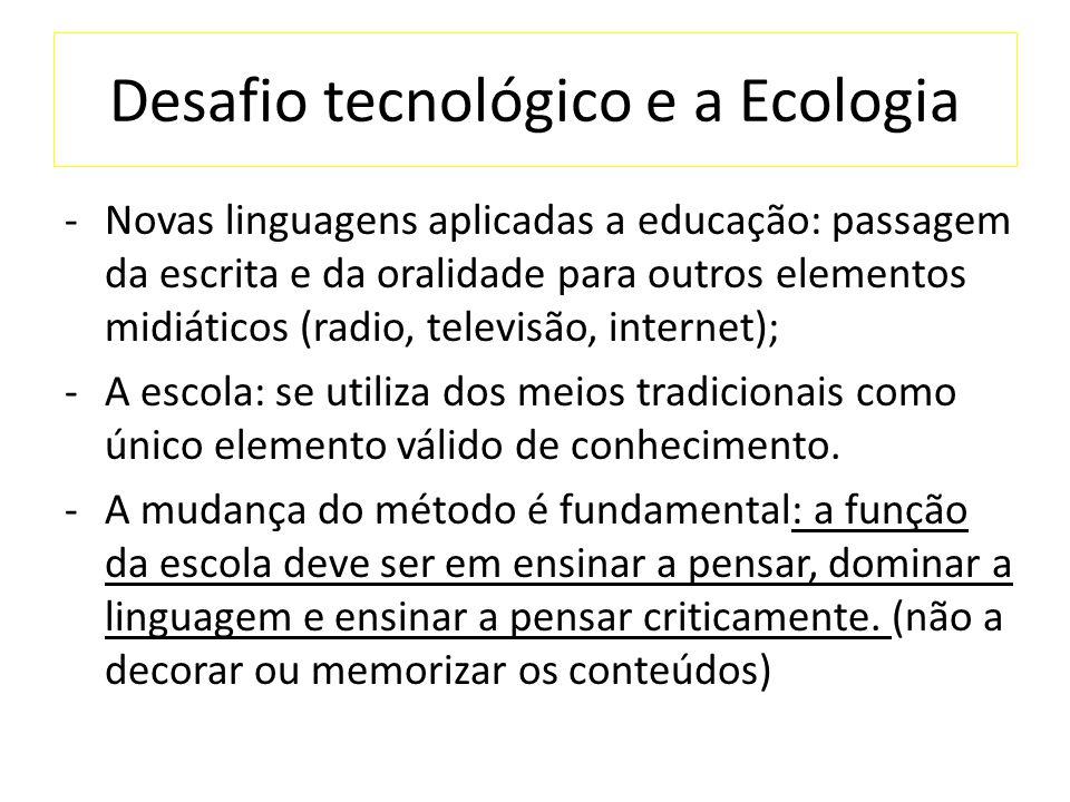 Desafio tecnológico e a Ecologia