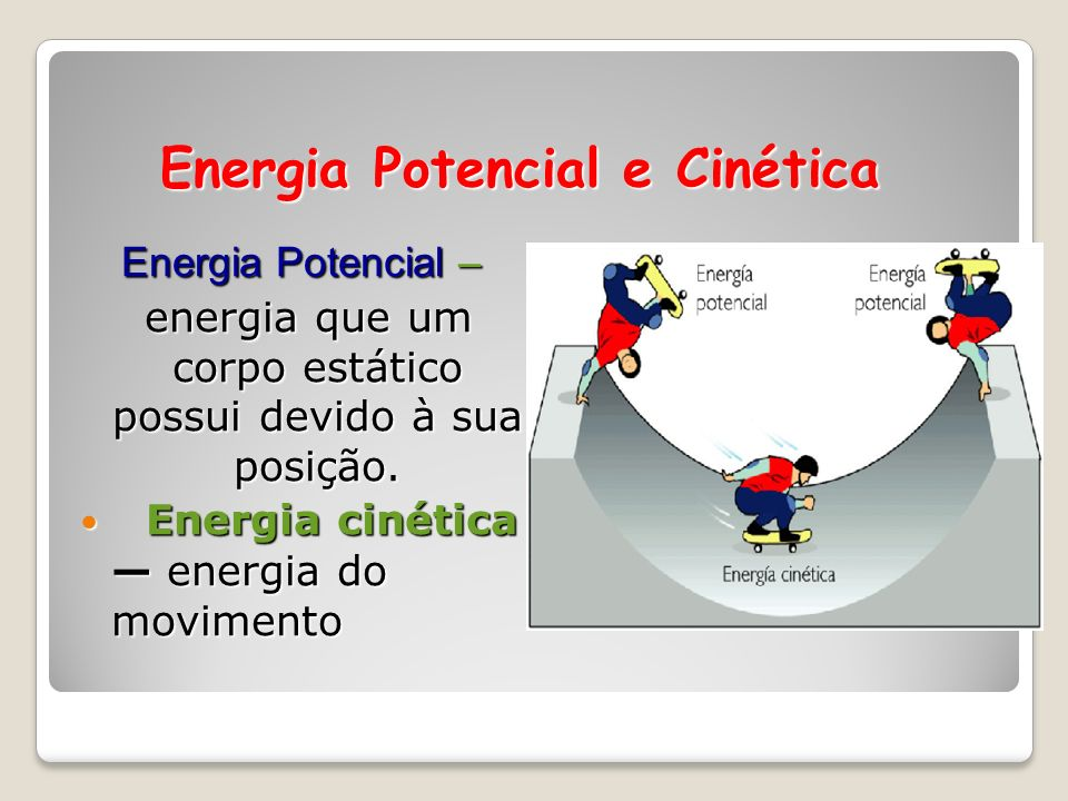 Energia Potencial e Cinética