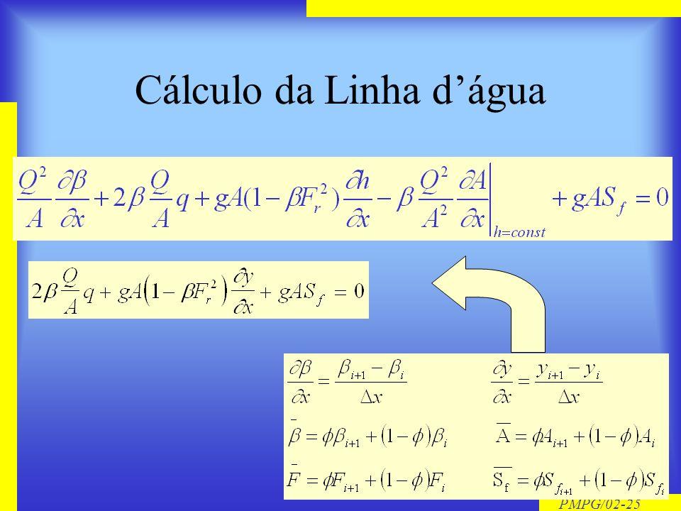 Cálculo da Linha d'água