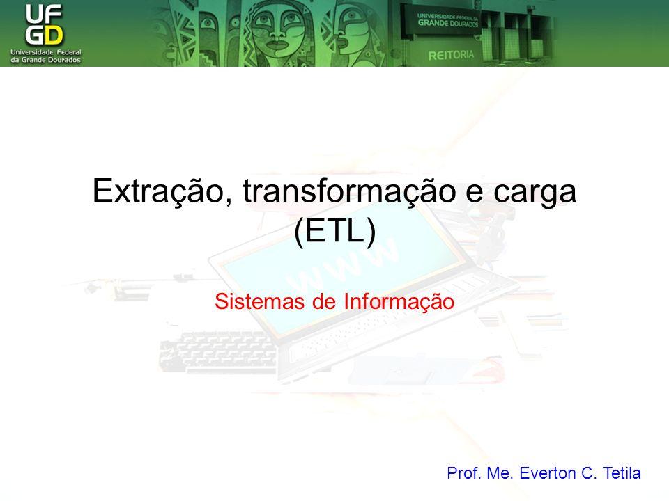 Extração, transformação e carga (ETL)