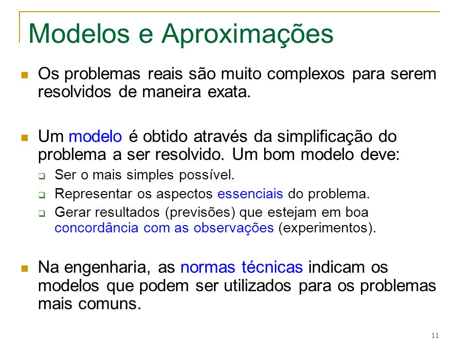 Modelos e Aproximações