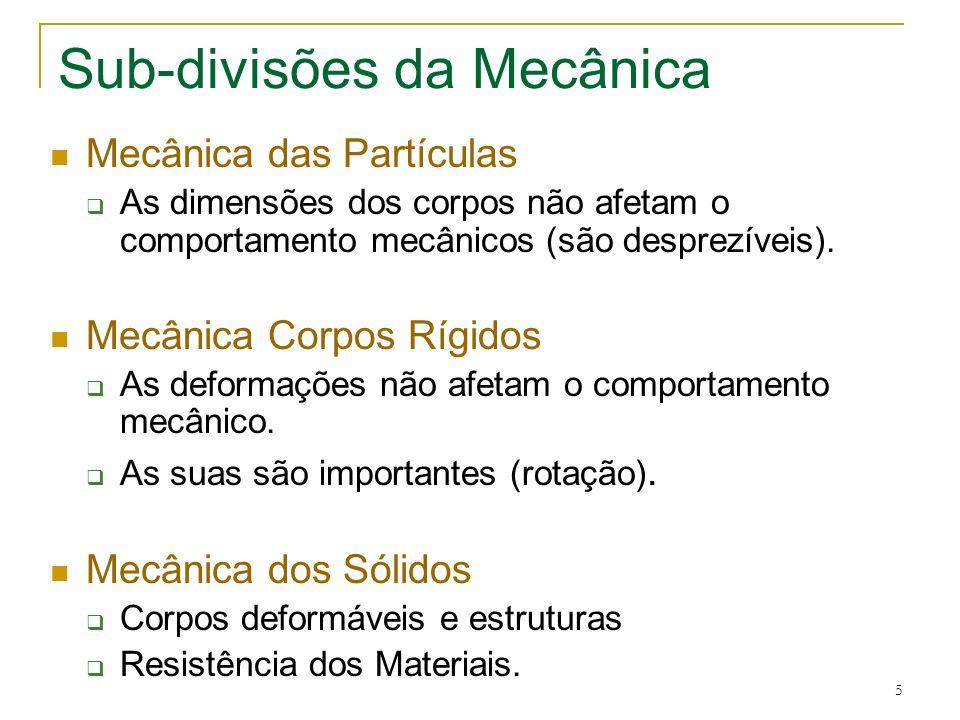 Sub-divisões da Mecânica