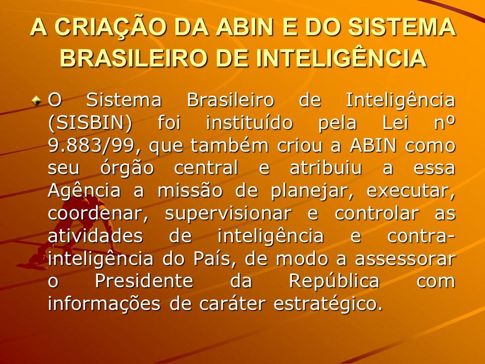 A CRIAÇÃO DA ABIN E DO SISTEMA BRASILEIRO DE INTELIGÊNCIA