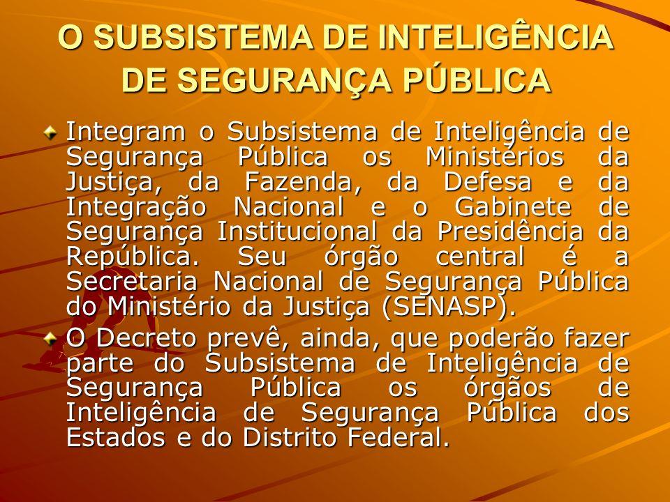 O SUBSISTEMA DE INTELIGÊNCIA DE SEGURANÇA PÚBLICA