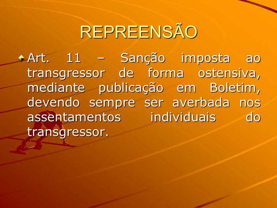 REPREENSÃO