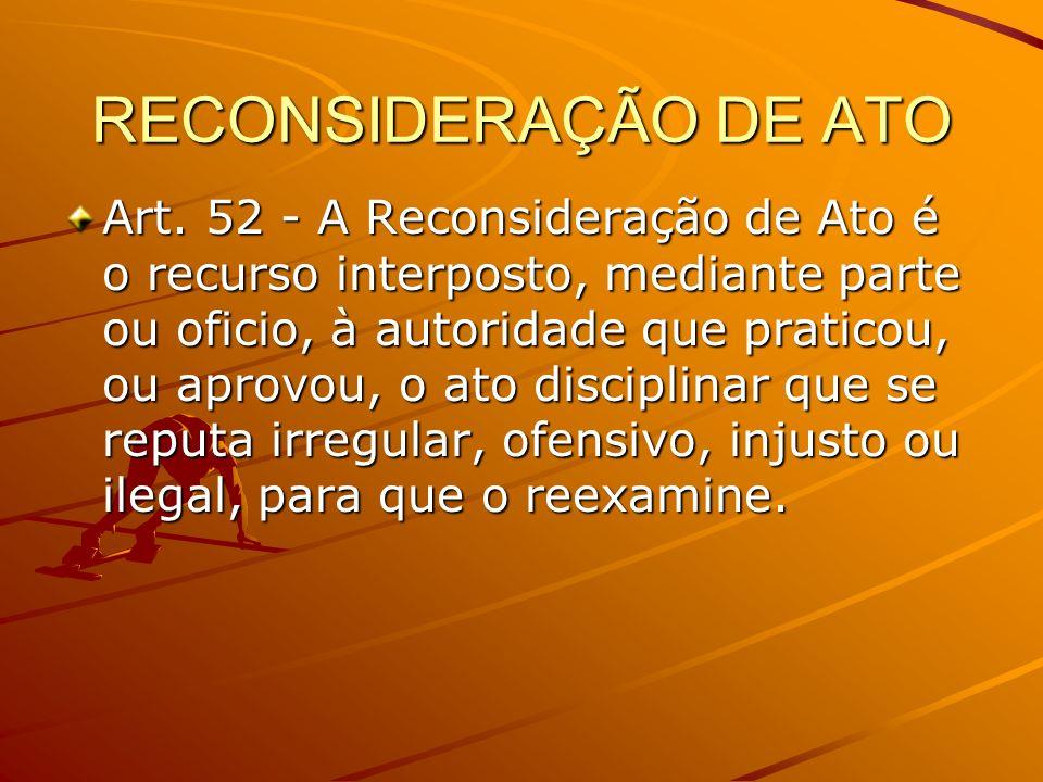 RECONSIDERAÇÃO DE ATO