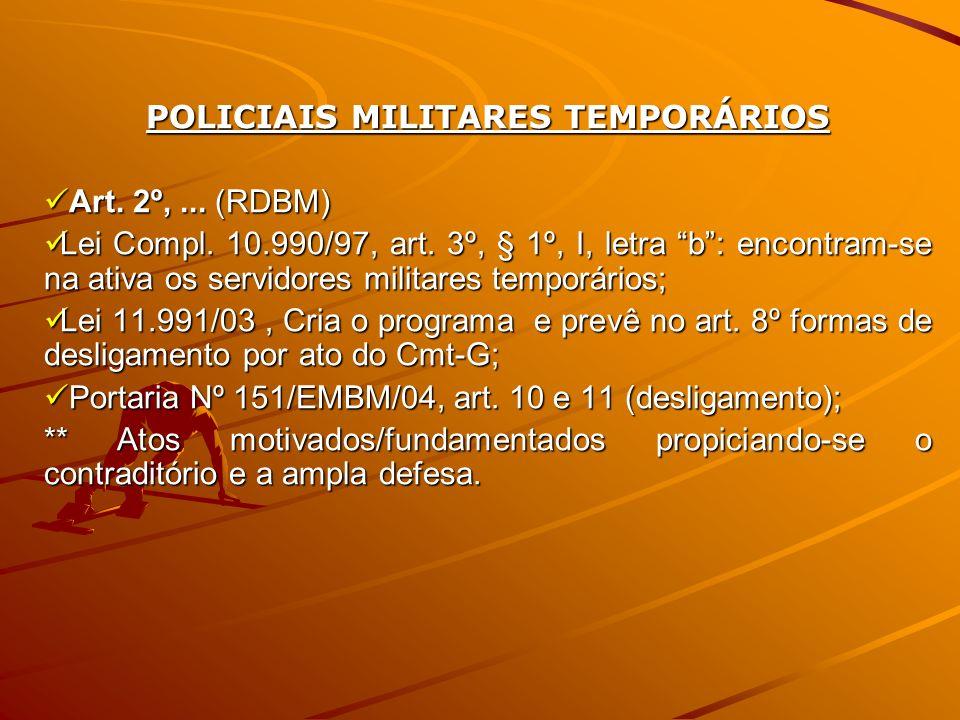 POLICIAIS MILITARES TEMPORÁRIOS