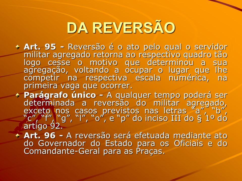 DA REVERSÃO