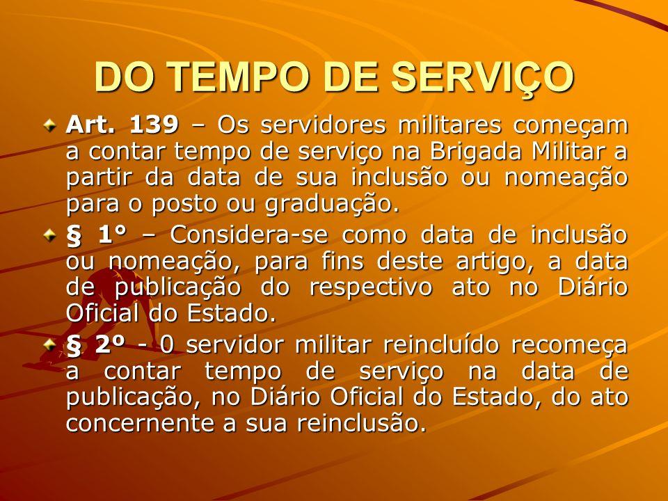 DO TEMPO DE SERVIÇO