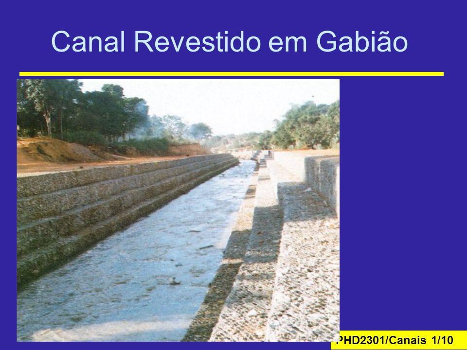 Canal Revestido em Gabião
