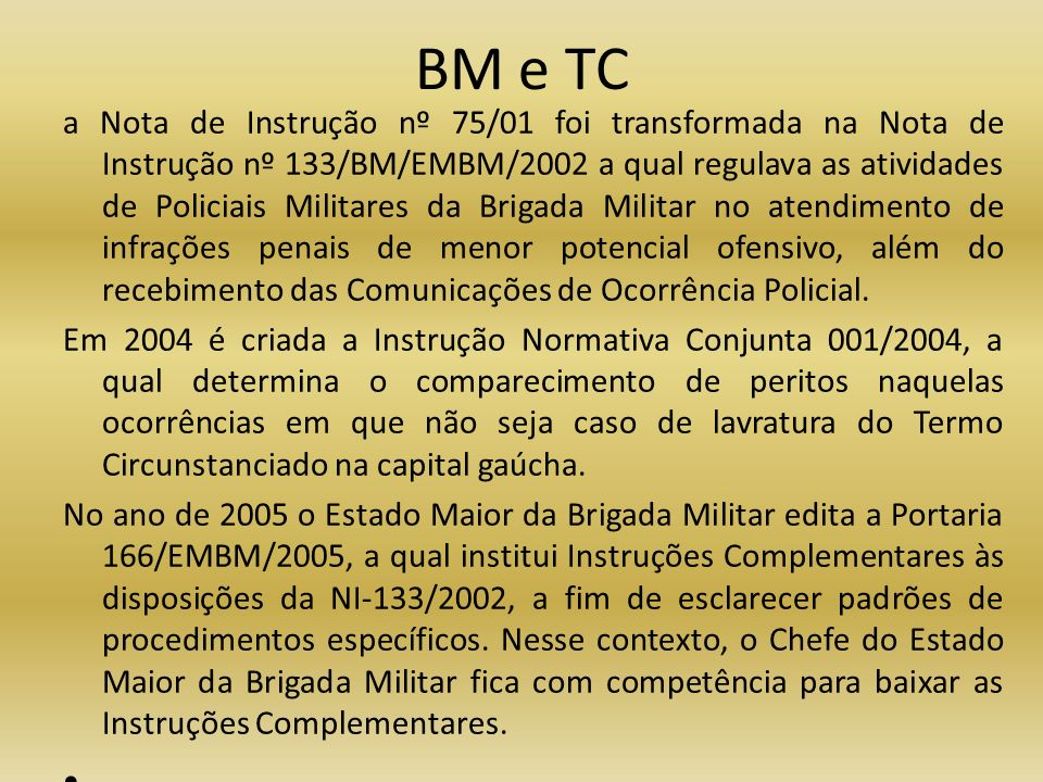 BM e TC