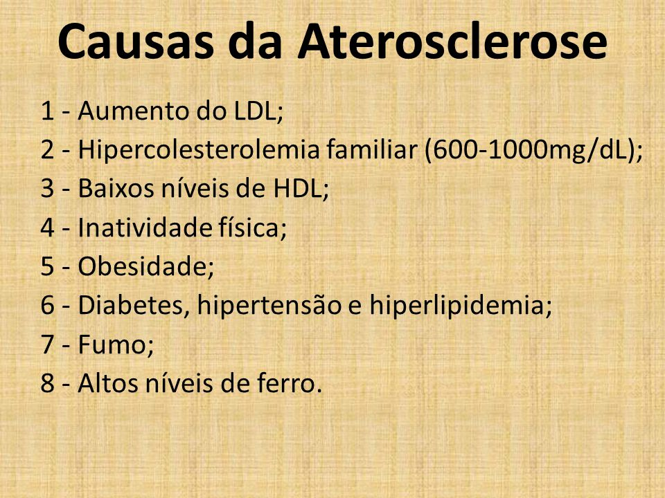 Causas da Aterosclerose