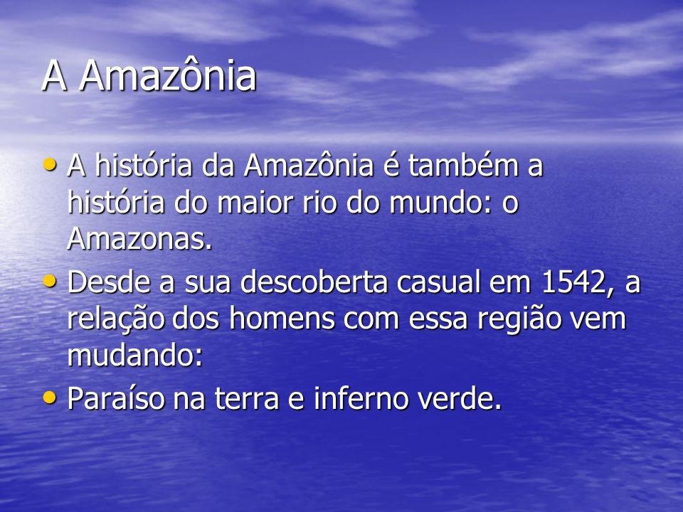 A Amazônia A história da Amazônia é também a história do maior rio do mundo: o Amazonas.