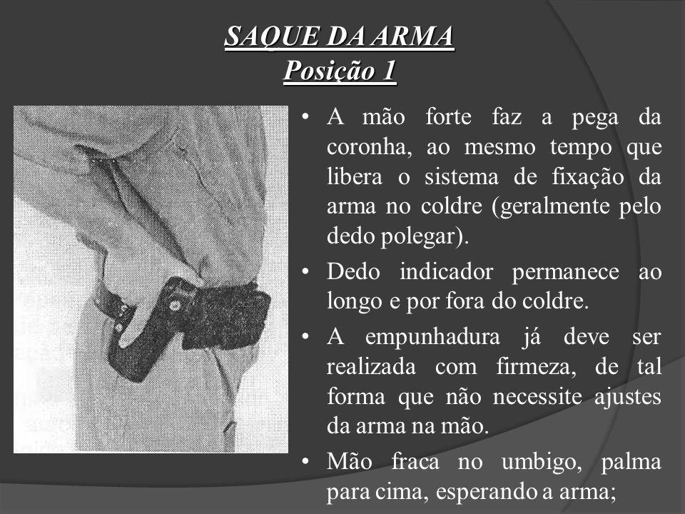 SAQUE DA ARMA Posição 1.
