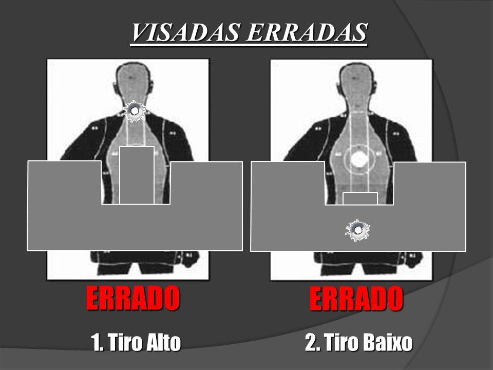 VISADAS ERRADAS ERRADO ERRADO 1. Tiro Alto 2. Tiro Baixo