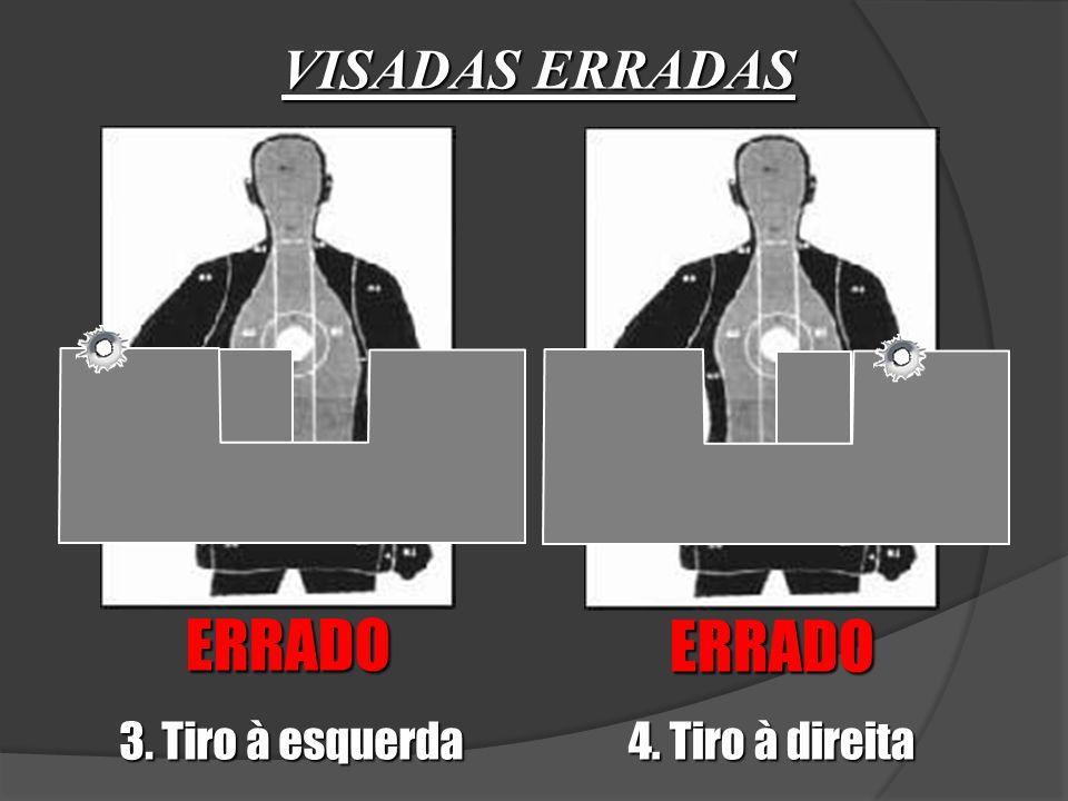 VISADAS ERRADAS ERRADO ERRADO 3. Tiro à esquerda 4. Tiro à direita
