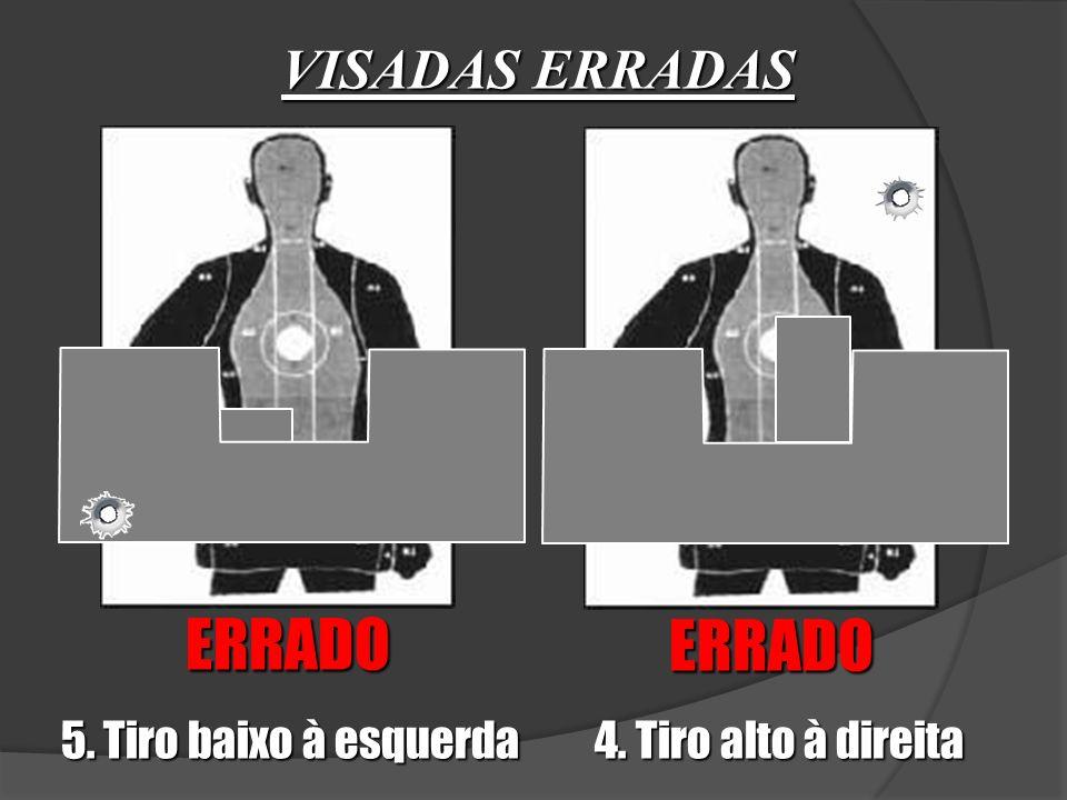 ERRADO ERRADO VISADAS ERRADAS 5. Tiro baixo à esquerda