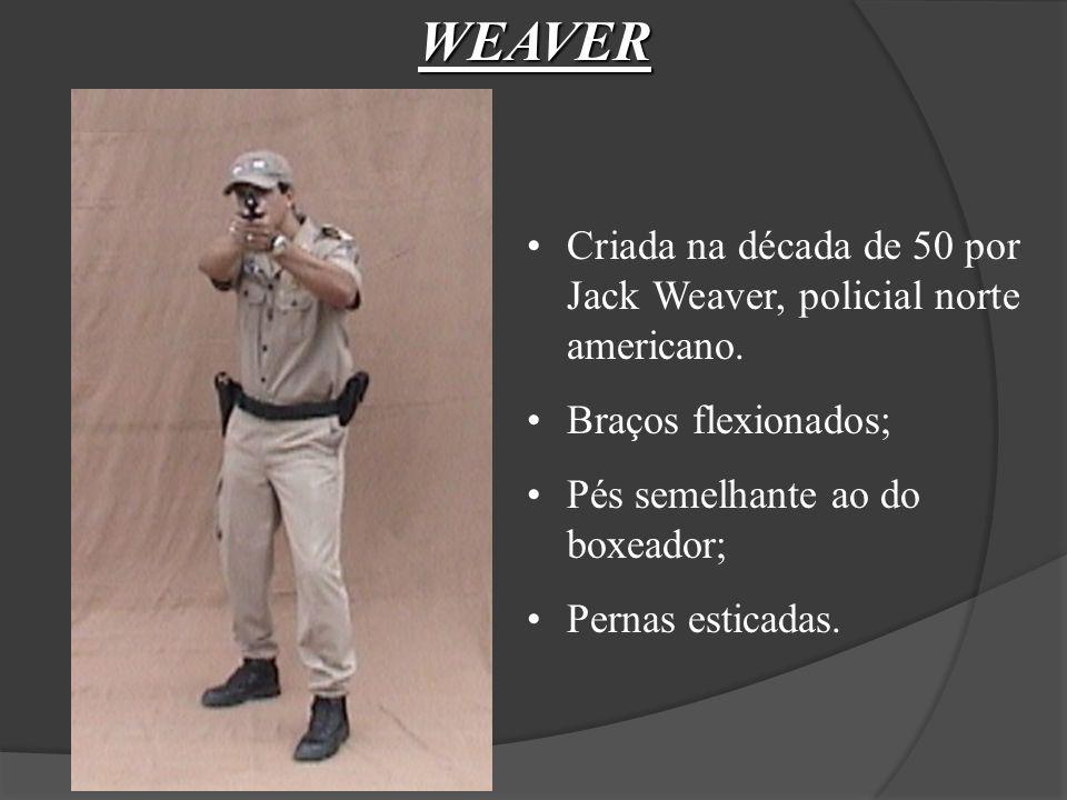 WEAVER Criada na década de 50 por Jack Weaver, policial norte americano. Braços flexionados; Pés semelhante ao do boxeador;