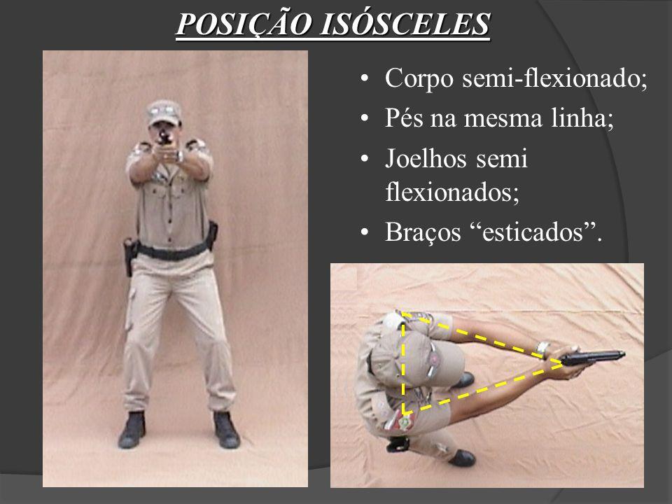 POSIÇÃO ISÓSCELES Corpo semi-flexionado; Pés na mesma linha;