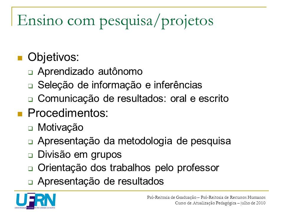 Ensino com pesquisa/projetos