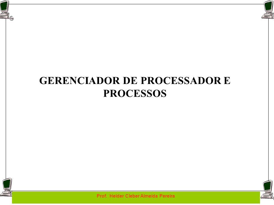 GERENCIADOR DE PROCESSADOR E PROCESSOS