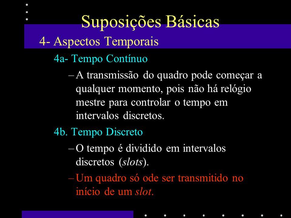 Suposições Básicas 4- Aspectos Temporais 4a- Tempo Contínuo