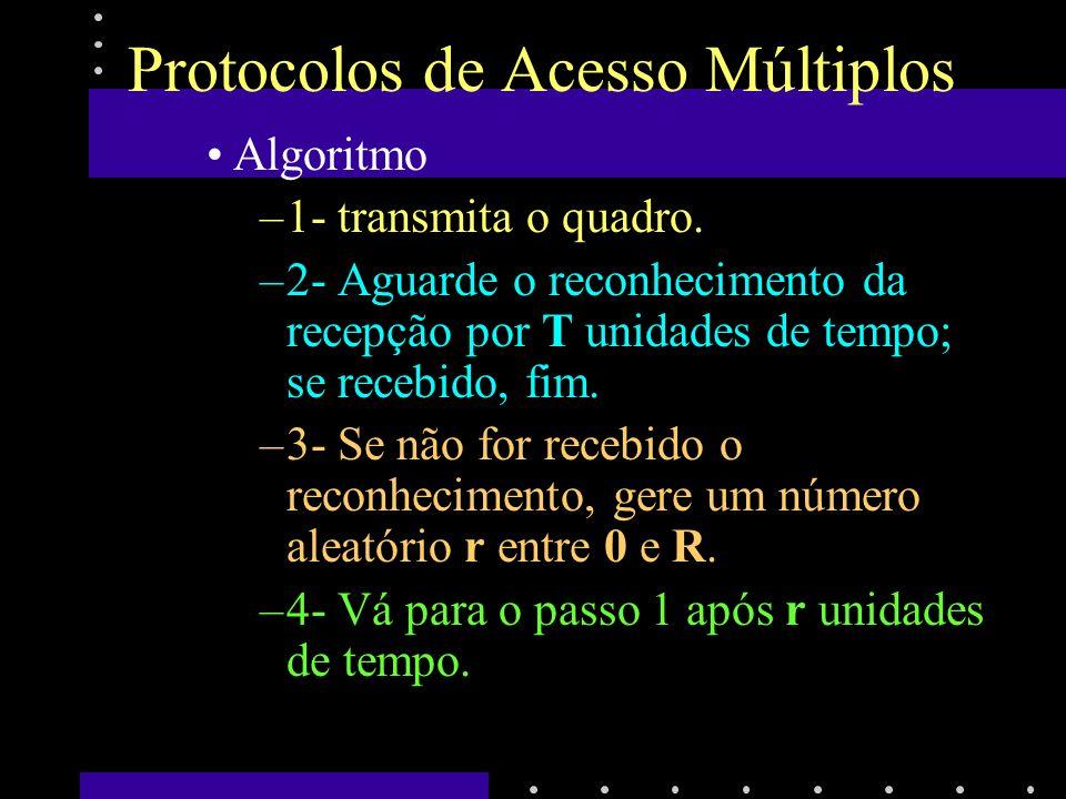Protocolos de Acesso Múltiplos