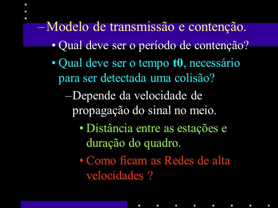 Modelo de transmissão e contenção.