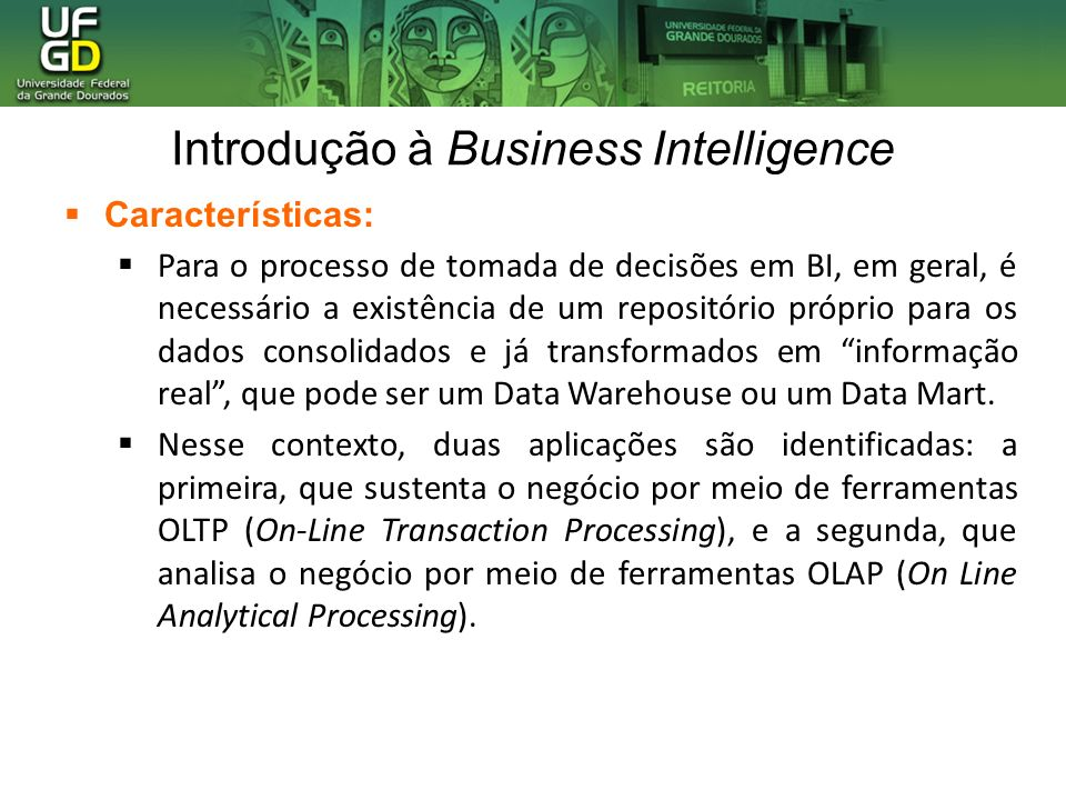 Introdução à Business Intelligence