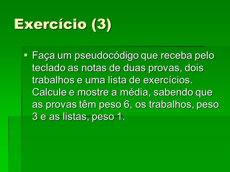 Exercício (3)