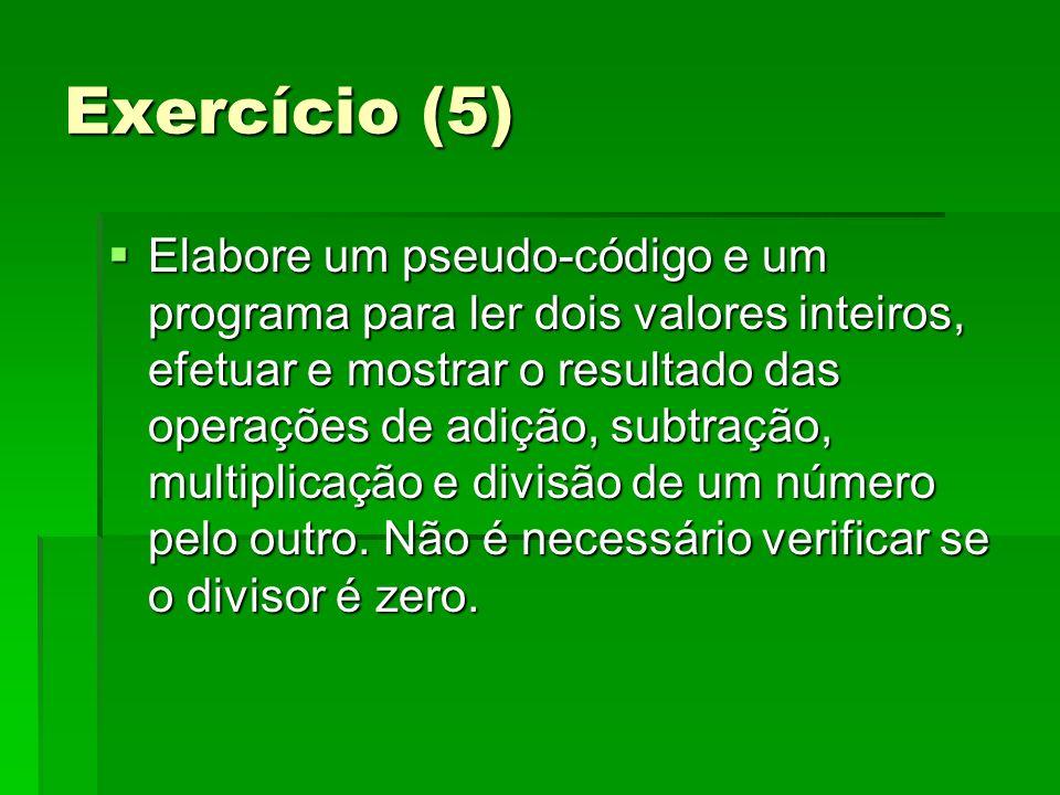 Exercício (5)