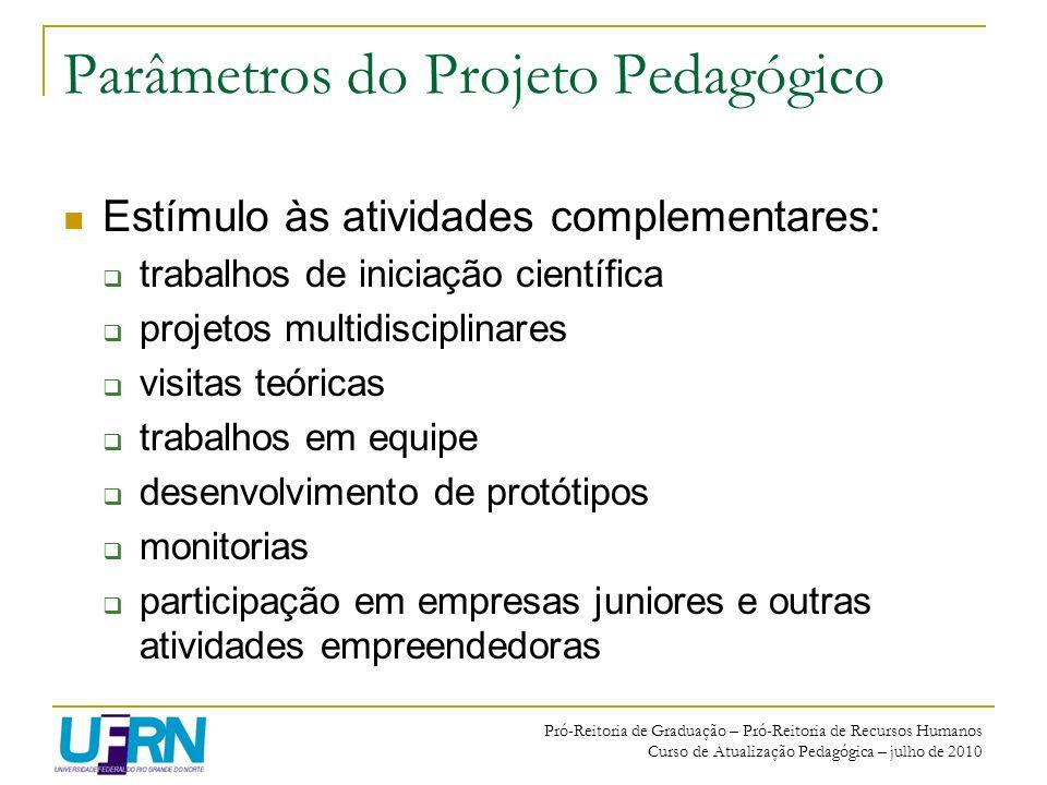 Parâmetros do Projeto Pedagógico