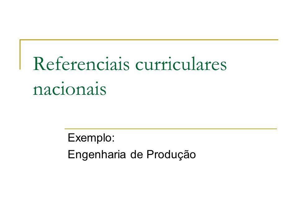 Referenciais curriculares nacionais