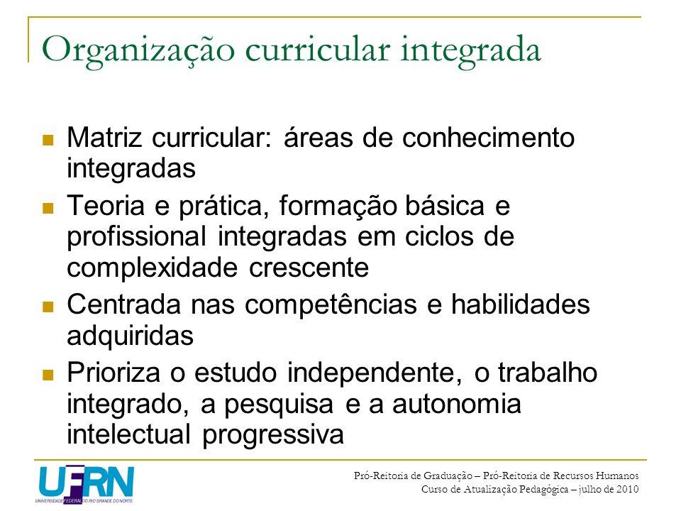 Organização curricular integrada