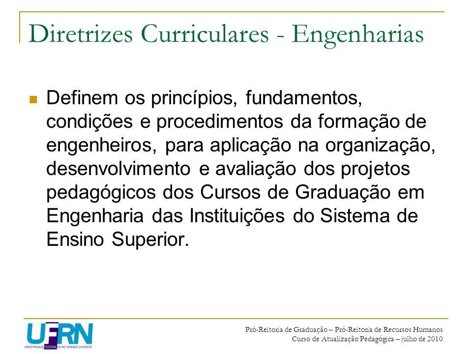 Diretrizes Curriculares - Engenharias